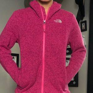 Pink Full-Zip North Face Fleece Jacket